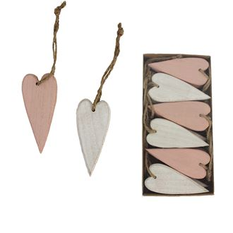 Heart for hanging small 12 pcs D2043/1