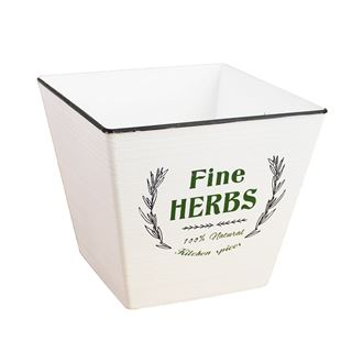 Plastic flower pot HERBS X0752