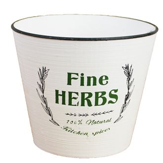 Plastic flower pot HERBS X0731