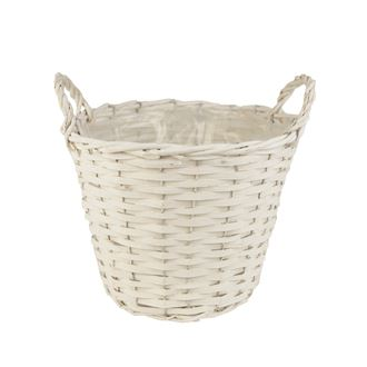 Basket with plastic white P0242