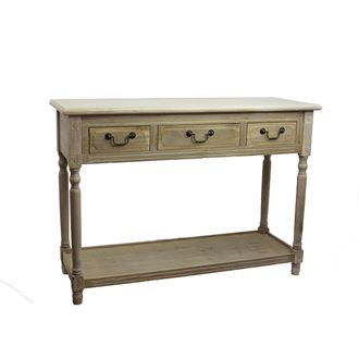 Wooden desk 3 drawers D0540