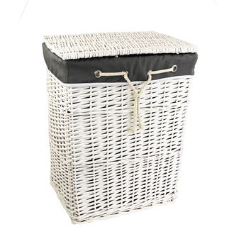 Laundry basket white P0915