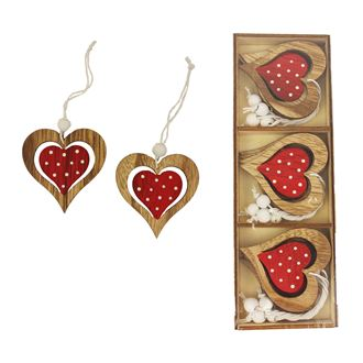 Heart for hanging 12 pcs D1992-08