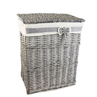 Laundry basket grey P0859