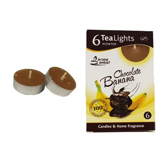 Tealight CHOCOLATE BANANA 6 Pcs.