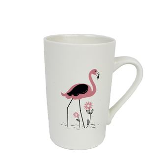Porcelain flamingo mug X2177