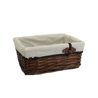 Storage box with fabric, brown, small P1363/M