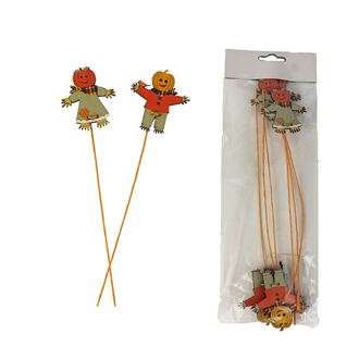 Figure on stick, 6pcs D2311