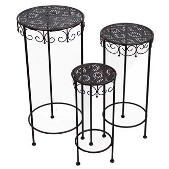 Metal table, set 3pcs K0385