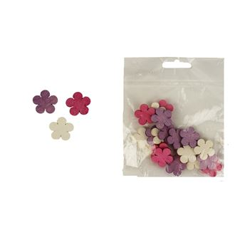 Decorative flowers 2cm, 24pcs D1114