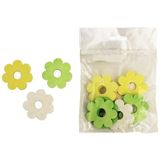 Decorative flowers 4 cm, 12pcs D0644