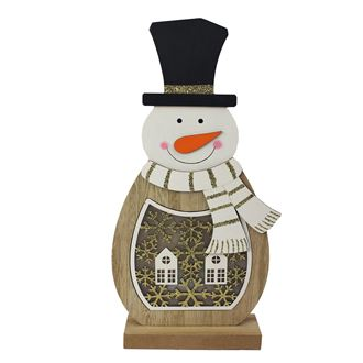 Snowman with LED lighting D2462