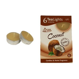 Tealight COCONUT 6 Pcs.