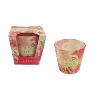 Candle in conical glass 115g - PEONY royal pink MB0011