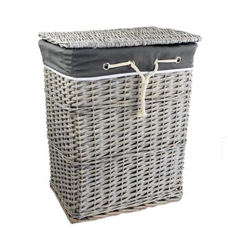 Laundry basket grey P0917