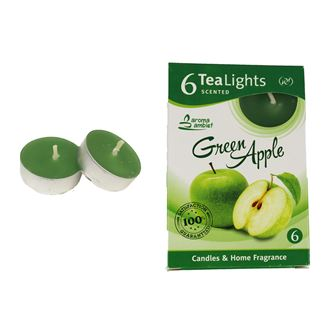 Tealight GREEN APPLE 6 Pcs.