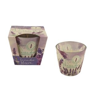 Candle in conical glass 115g - LAVENDER Floral Blossom MB0009