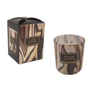 Candle in glass 150g - MARBLE Black MB0014
