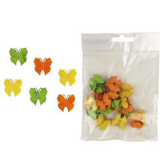 Decorative butterflies 2cm, 24pcs D1112