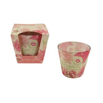 Candle in conical glass 115g - PEONY powder pink MB0012