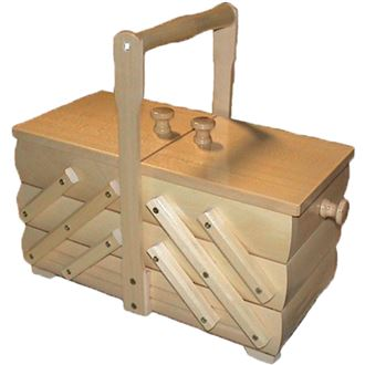 Sewing box wooden, small 0960005