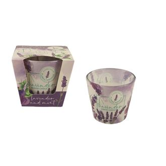 Candle in conical glass 115g - LAVENDER Floral and mint MB0010