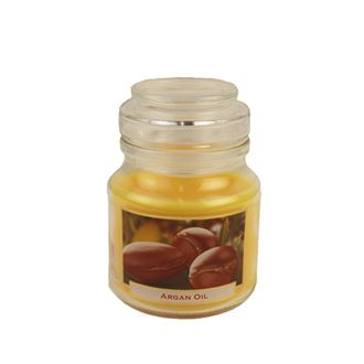 Candle with scent 130g in a glass jar with a lid - Wellness Argan Oil MB0005