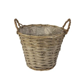 Basket with plastic grey P0241