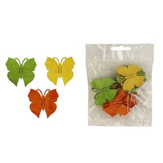 Decorative butterflies 4 cm, 12 pcs D1111