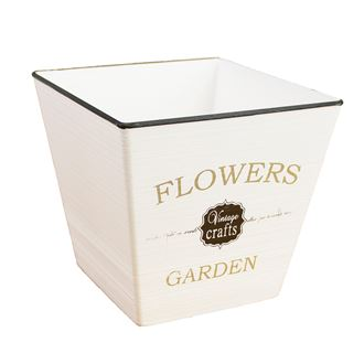 Plastic flower pot FLOWERS X0746