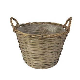 Basket with plastic grey P0243