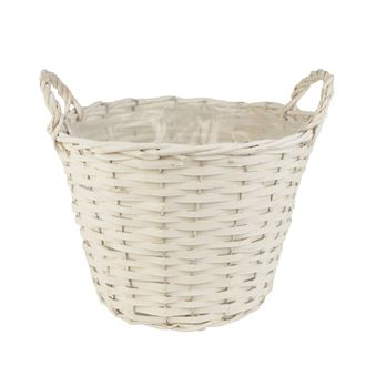 Basket with plastic white P0244