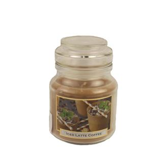 Candle with scent 130g in a glass jar with a lid - COFFEE Ice Latte MB0007