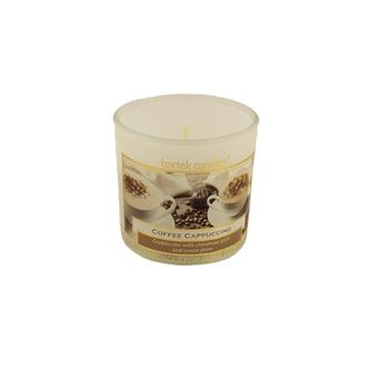 Candle in glass 75g white - Coffee Cappuccino MB0002