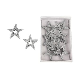 Decorative stars, 8pcs X0828/ST