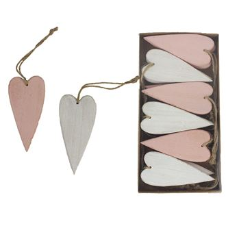 Heart for hanging large 12 pcs D2043/2