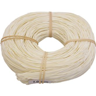 rattan core bleached 1mm AA coil 0,25kg