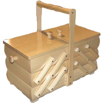 Sewing box natural, wooden, medium 0960008
