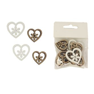 Decorative heart 12 pcs D1981