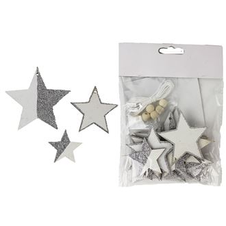 White-silver star 12 pcs D1809