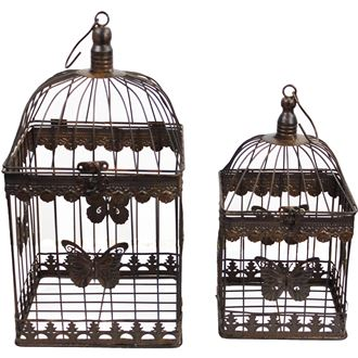 Square cage, set of 2 pcs K0350