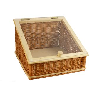 Sloping Display Basket with plexiglass 40x40/13x27cm