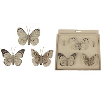 Butterfly decoration, 5pcs
