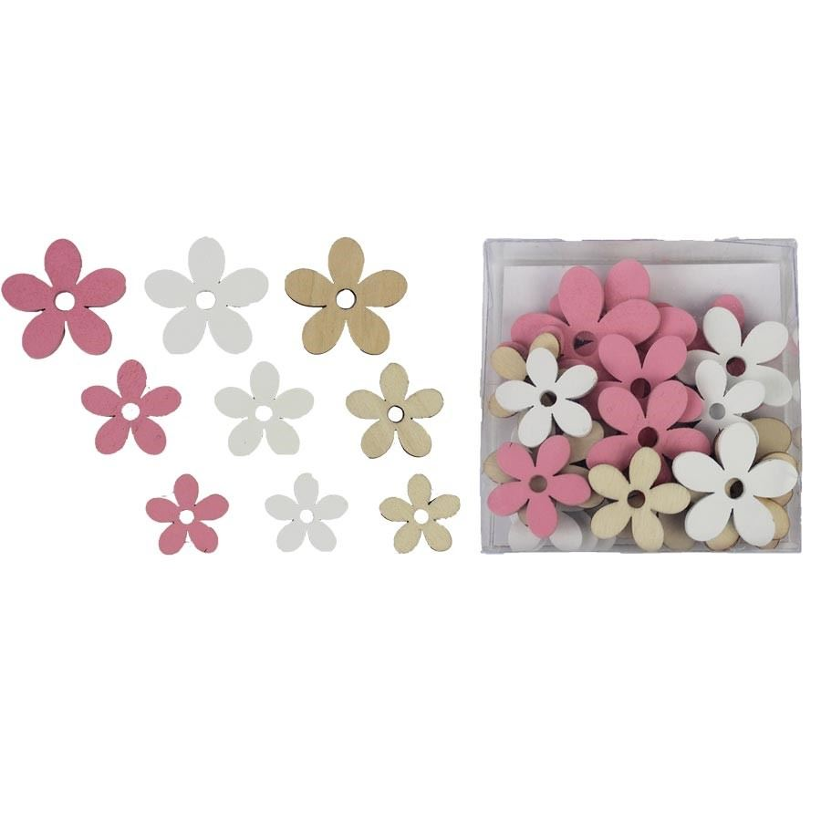 Flower decoration 24 pcs D3088